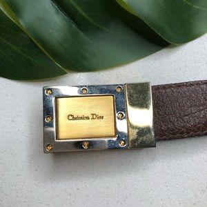 Vintage Christian Dior Brown Belt